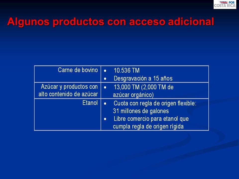 Algunos productos con acceso adicional