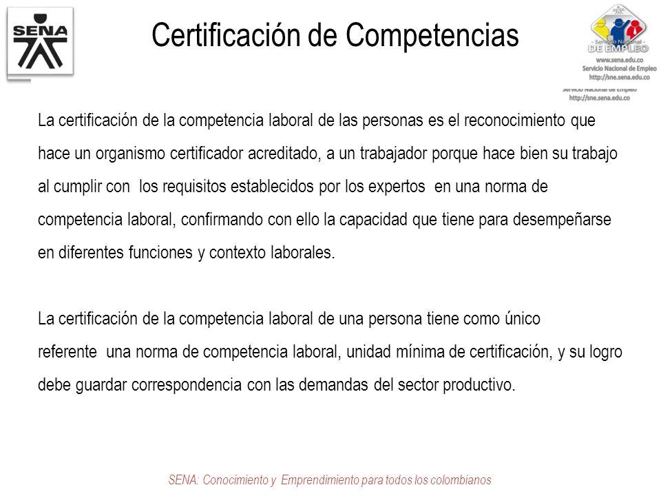 Certificación de Competencias