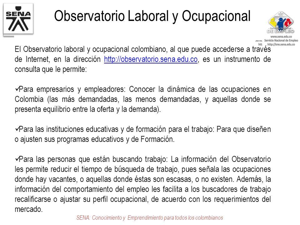 Observatorio Laboral y Ocupacional