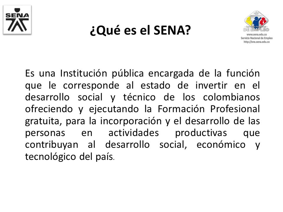 ¿Qué es el SENA