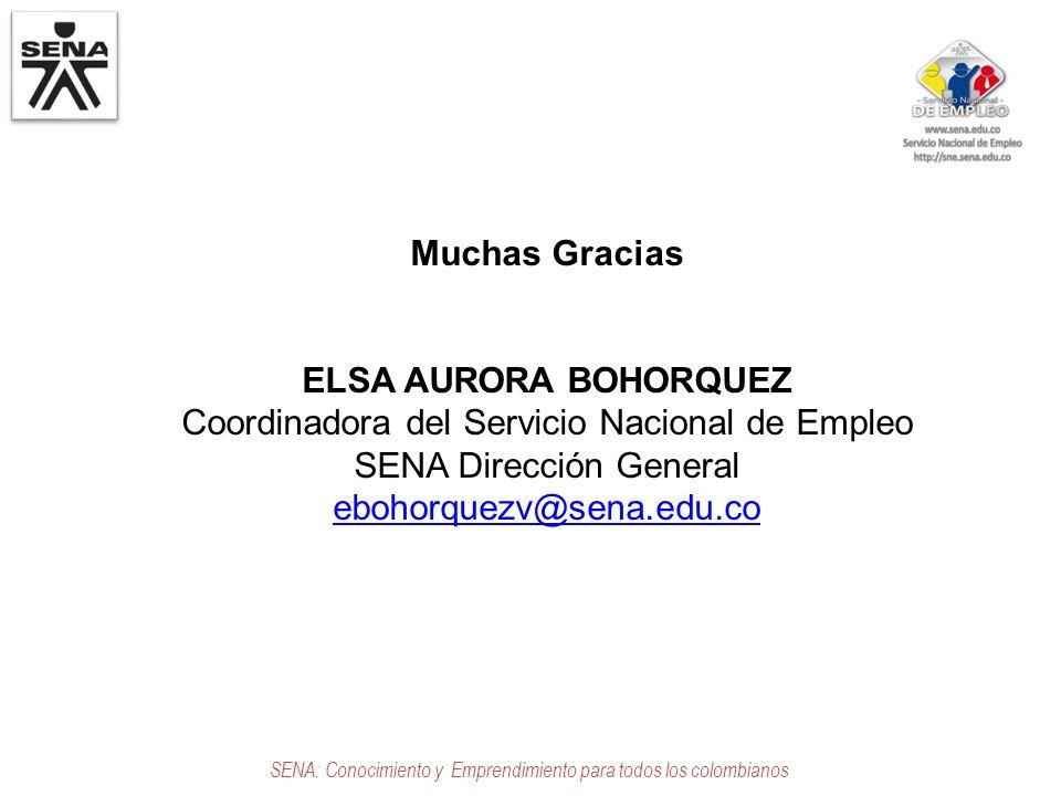 Muchas Gracias ELSA AURORA BOHORQUEZ