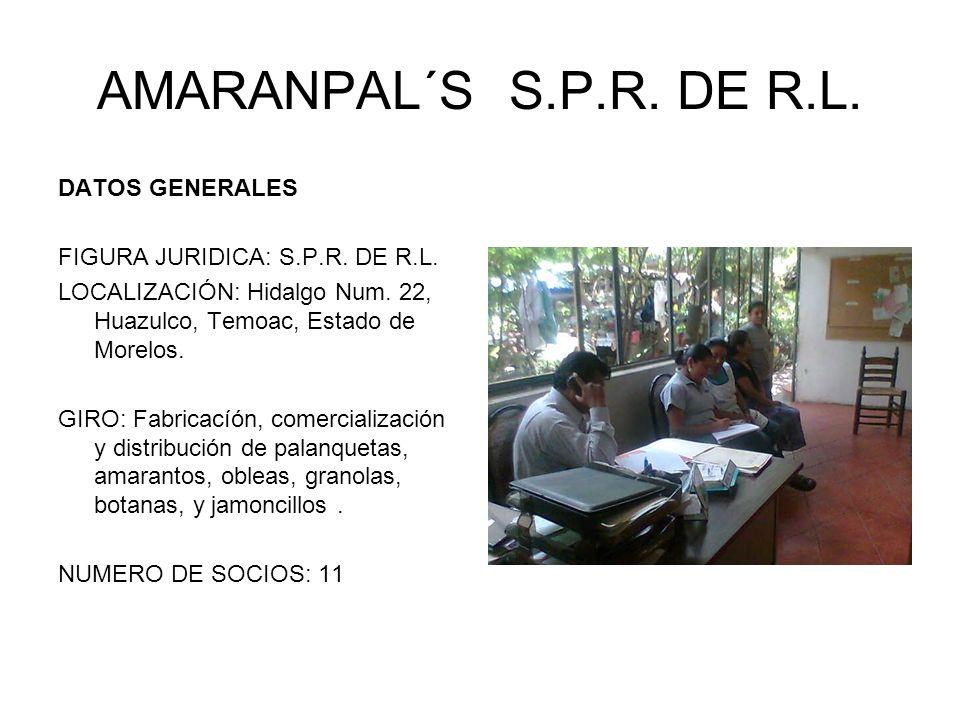 AMARANPAL´S S.P.R. DE R.L. DATOS GENERALES