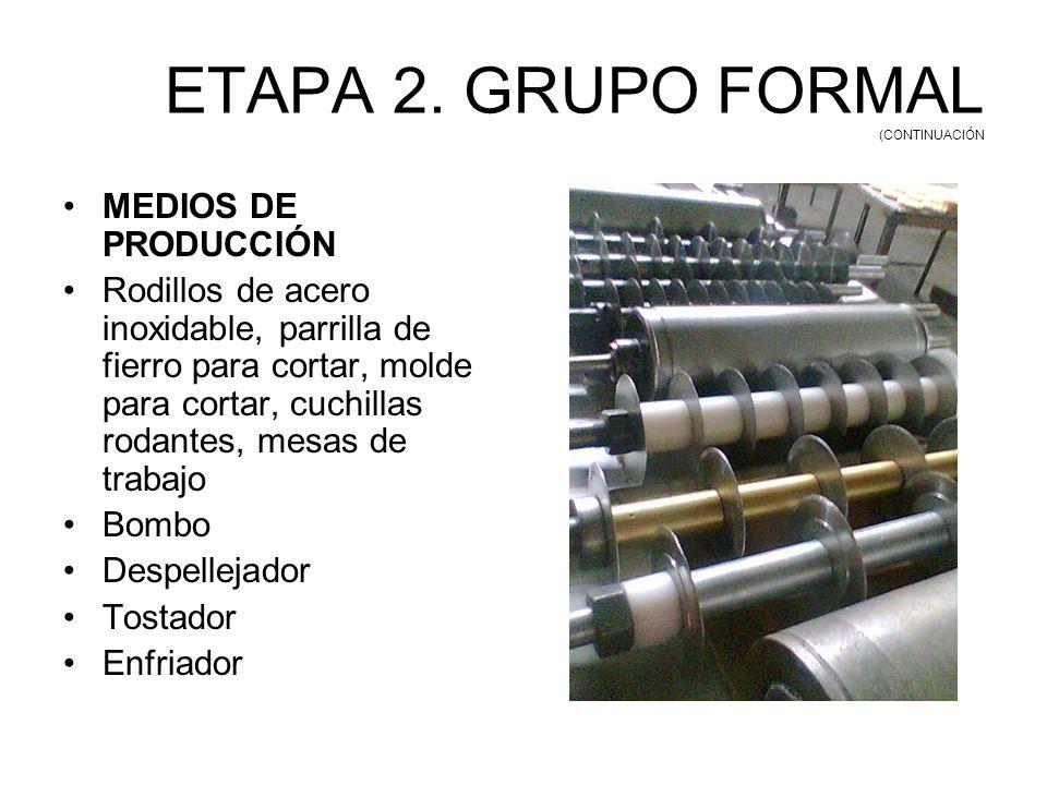 ETAPA 2. GRUPO FORMAL (CONTINUACIÓN