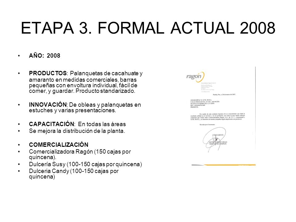 ETAPA 3. FORMAL ACTUAL 2008 AÑO: 2008