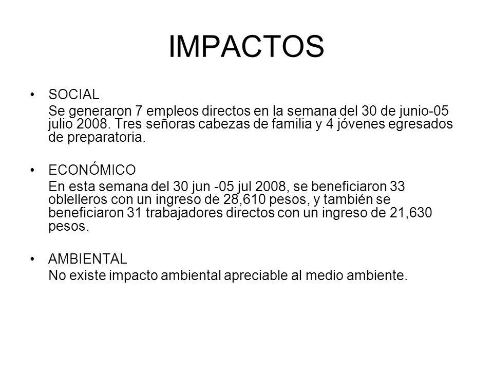 IMPACTOS SOCIAL.