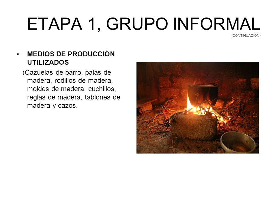 ETAPA 1, GRUPO INFORMAL (CONTINUACIÓN)