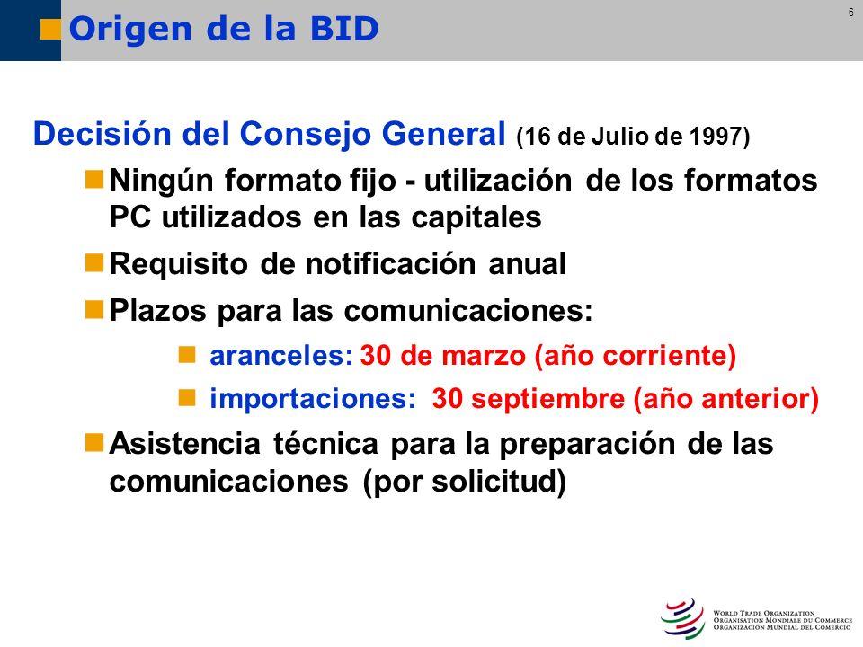 Decisión del Consejo General (16 de Julio de 1997)