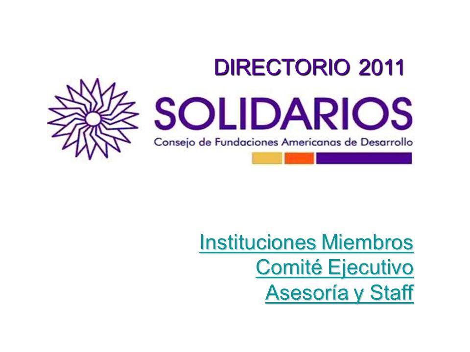 DIRECTORIO 2011 Instituciones Miembros Comité Ejecutivo