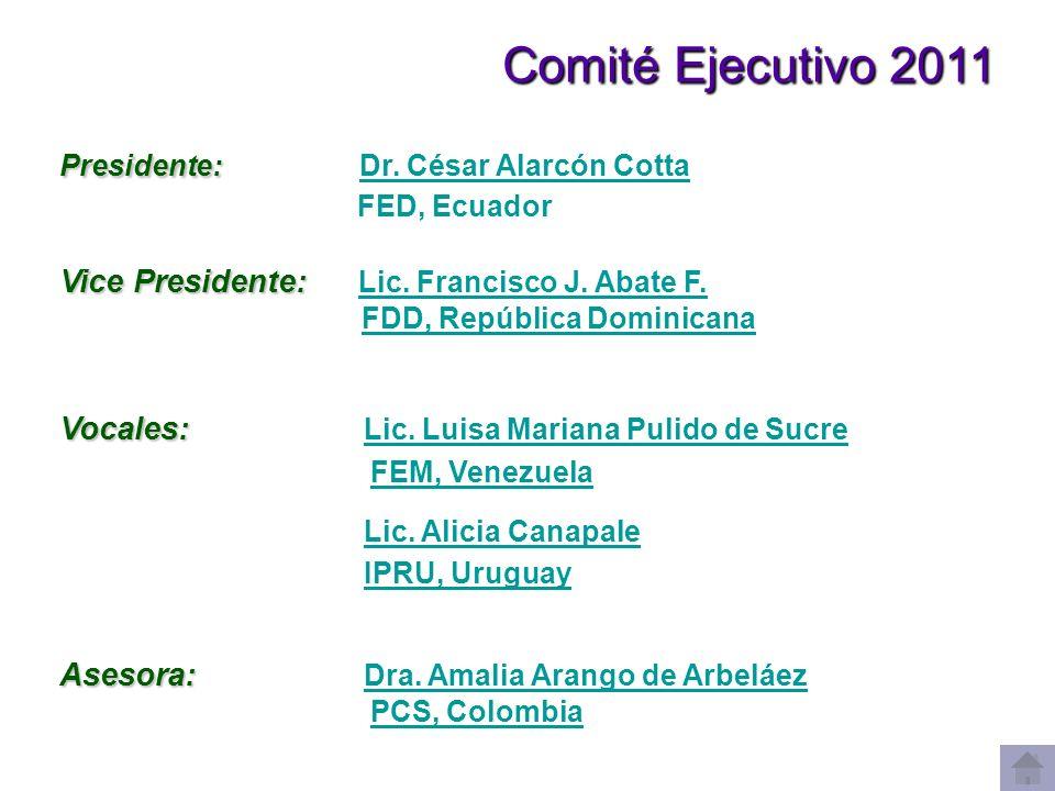 Comité Ejecutivo 2011 FEM, Venezuela Lic. Alicia Canapale
