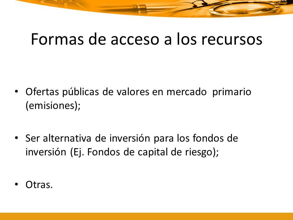 Formas de acceso a los recursos