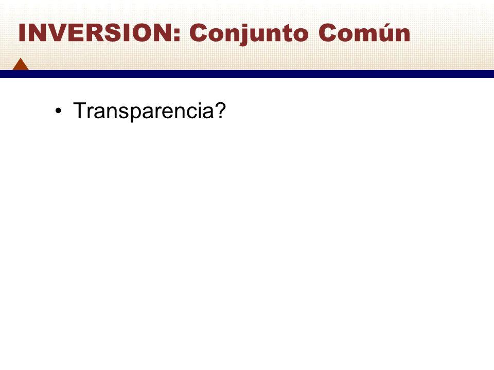 INVERSION: Conjunto Común