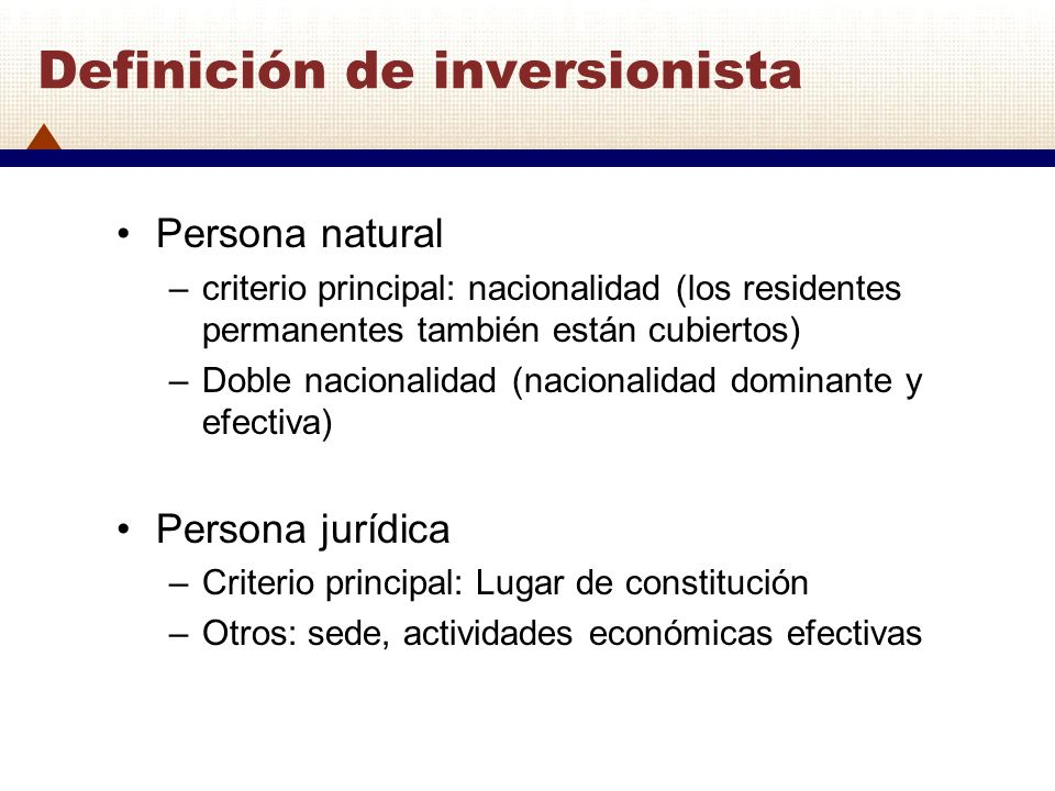 Definición de inversionista