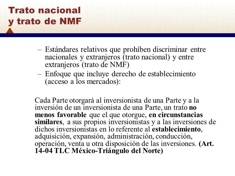 Trato nacional y trato de NMF