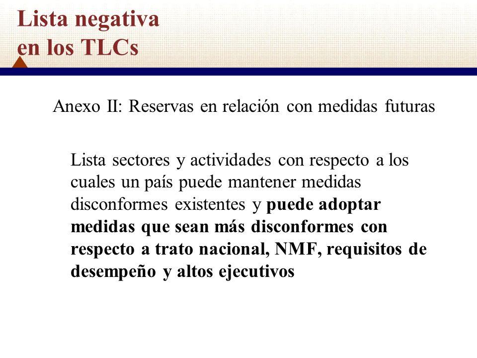 Lista negativa en los TLCs