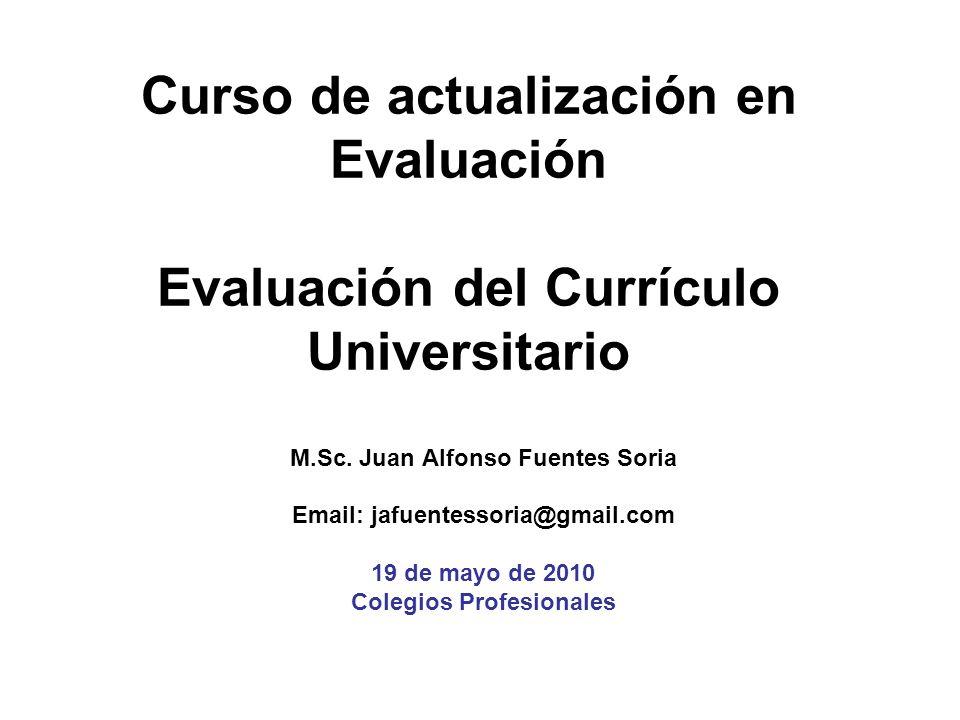 M.Sc. Juan Alfonso Fuentes Soria Colegios Profesionales