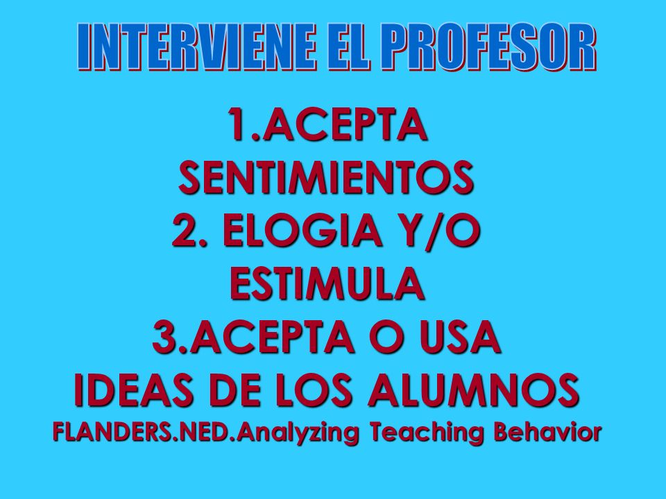 FLANDERS.NED.Analyzing Teaching Behavior