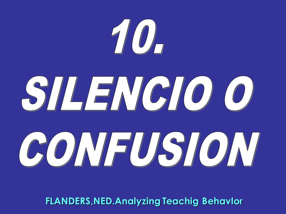 FLANDERS,NED.Analyzing Teachig BehavIor