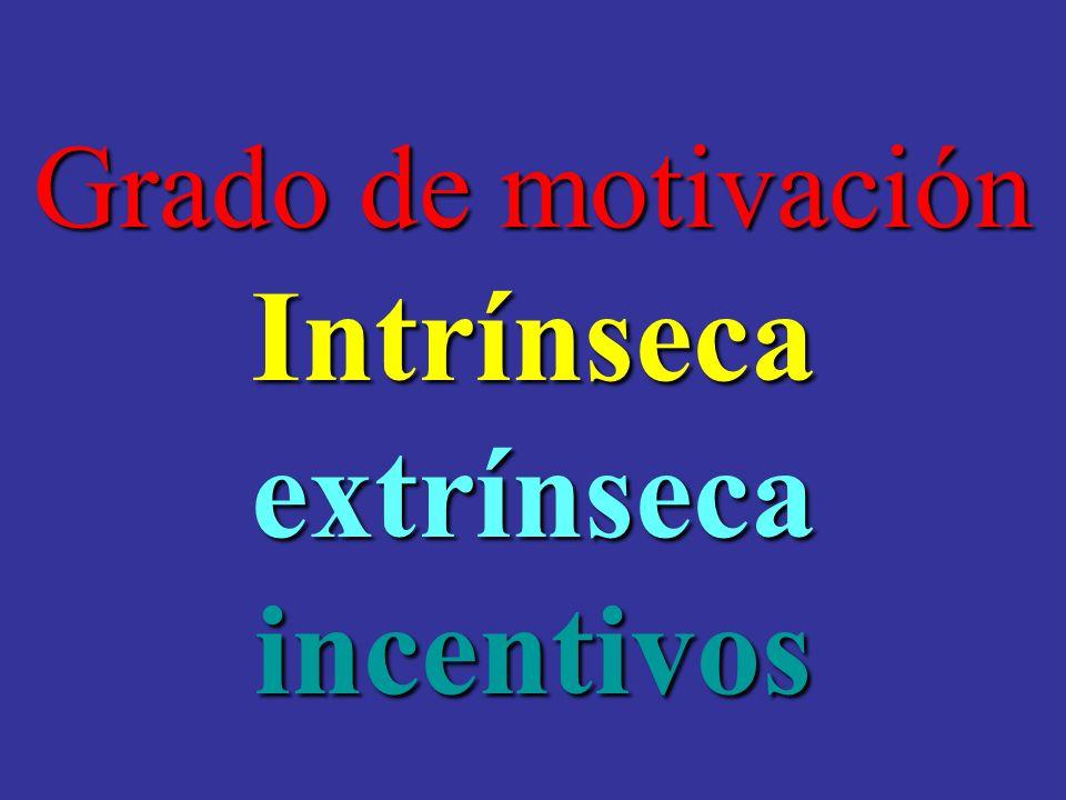 Intrínseca extrínseca incentivos