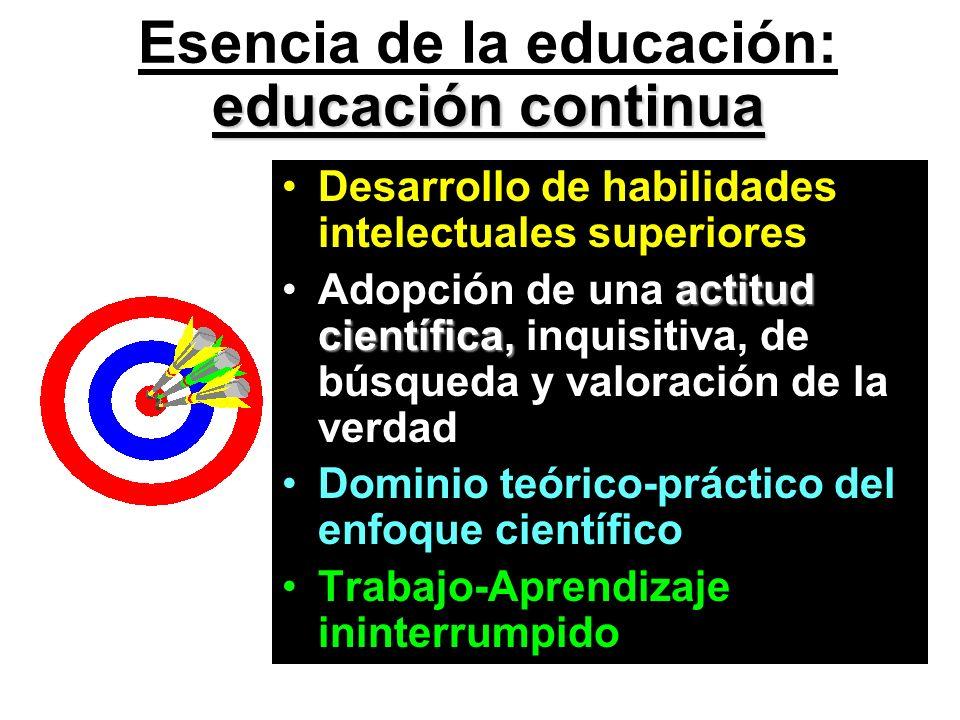 Esencia de la educación: educación continua