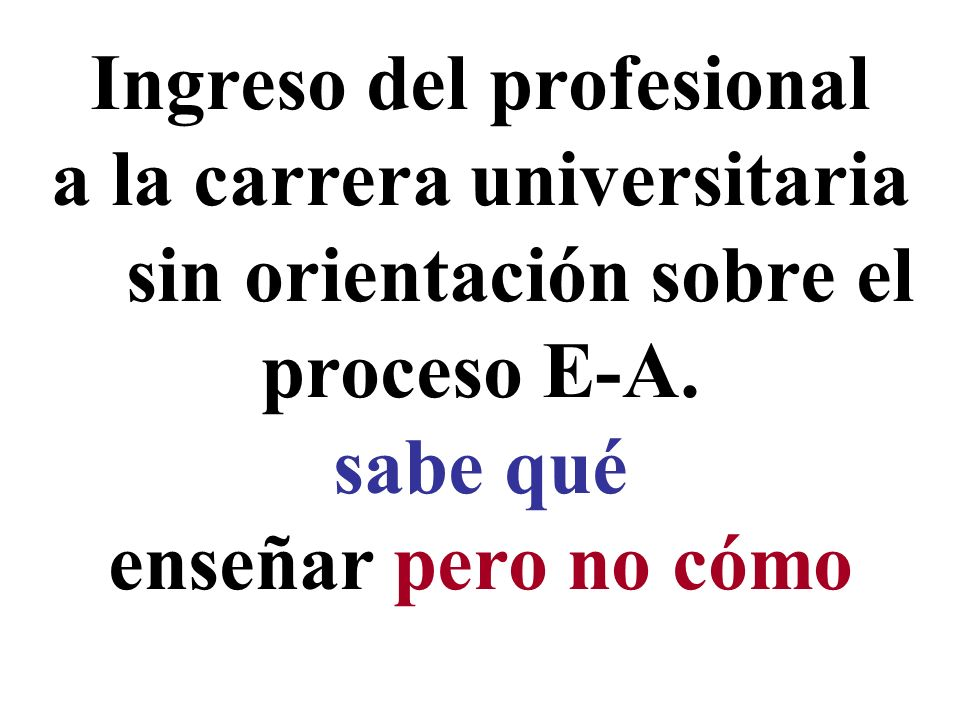 Ingreso del profesional a la carrera universitaria