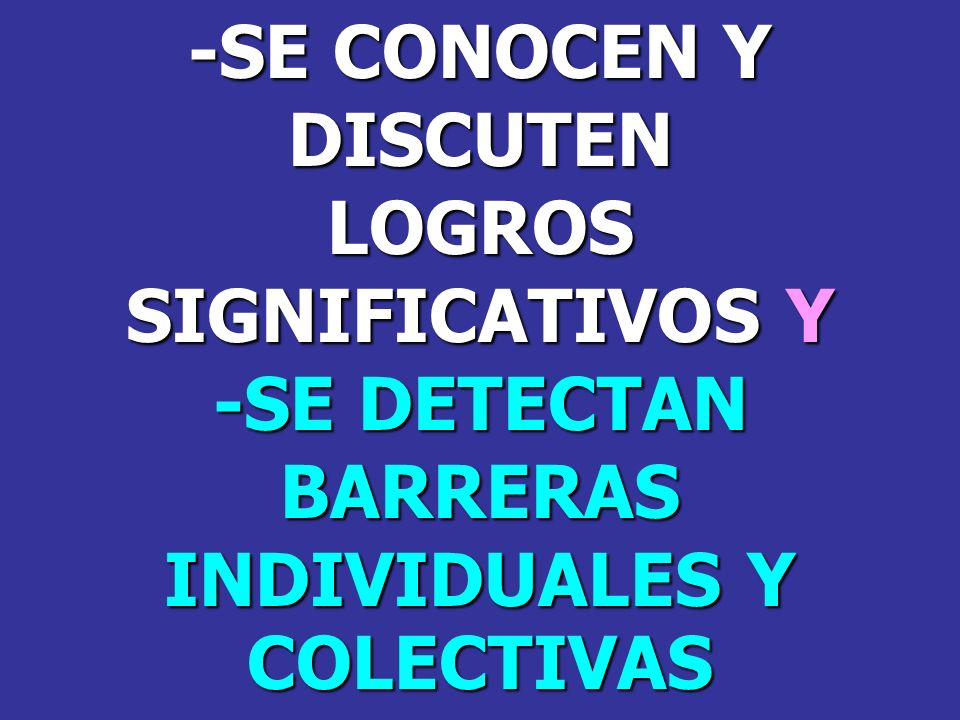 BARRERAS INDIVIDUALES Y