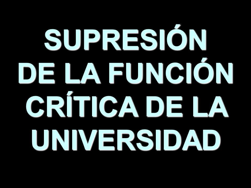 CRÍTICA DE LA UNIVERSIDAD