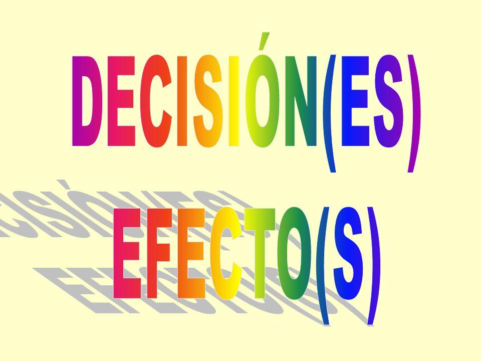 DECISIÓN(ES) EFECTO(S)