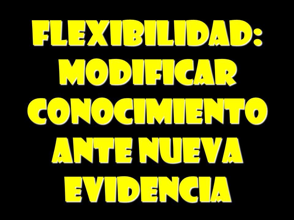 FLEXIBILIDAD: MODIFICAR CONOCIMIENTO ANTE NUEVA EVIDENCIA