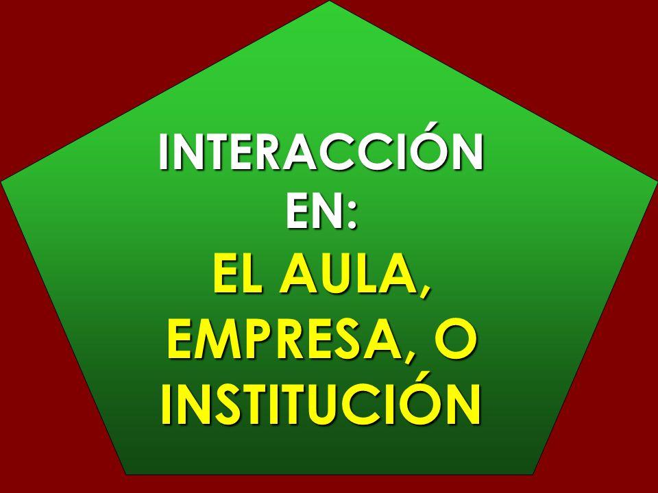 EL AULA, EMPRESA, O INSTITUCIÓN