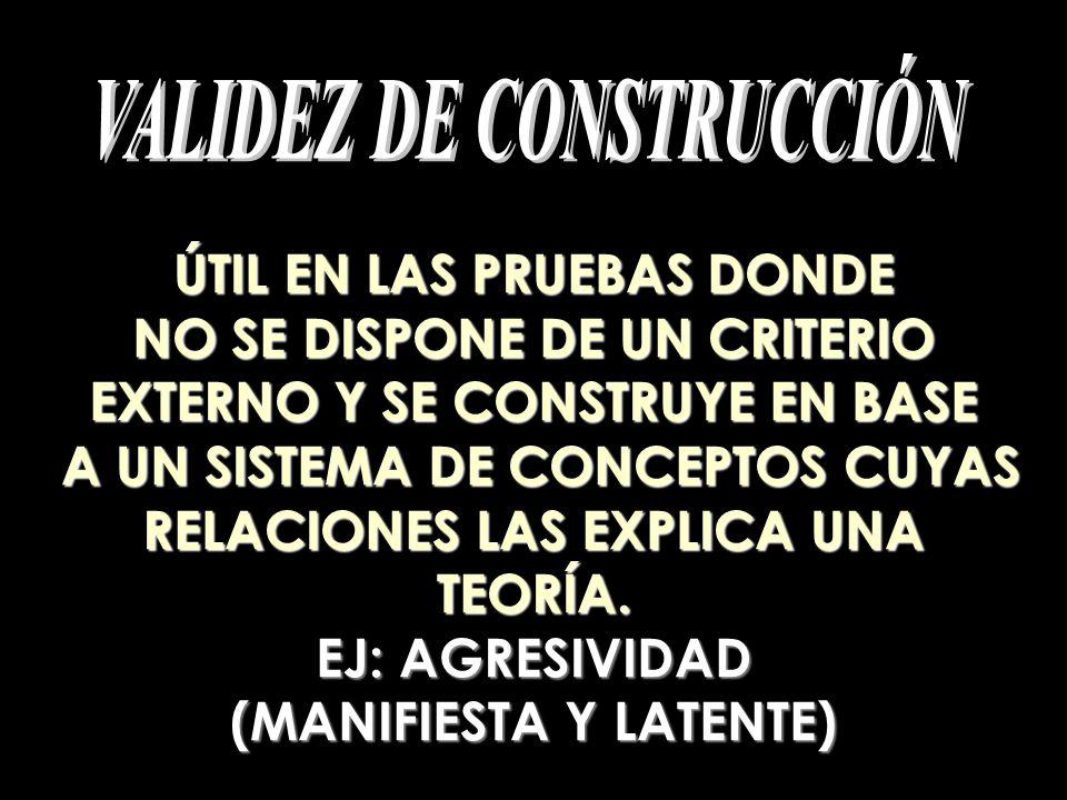 VALIDEZ DE CONSTRUCCIÓN