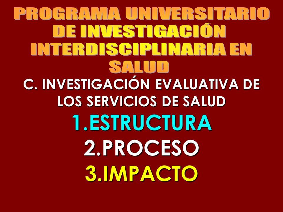 C. INVESTIGACIÓN EVALUATIVA DE