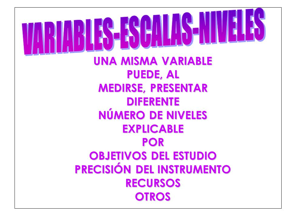 VARIABLES-ESCALAS-NIVELES
