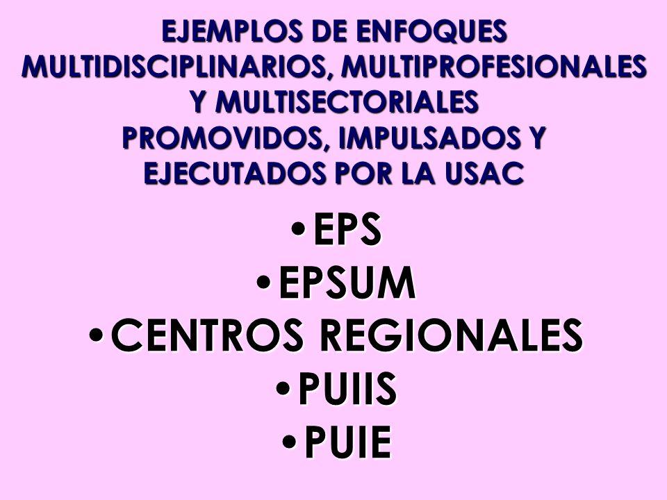 MULTIDISCIPLINARIOS, MULTIPROFESIONALES PROMOVIDOS, IMPULSADOS Y