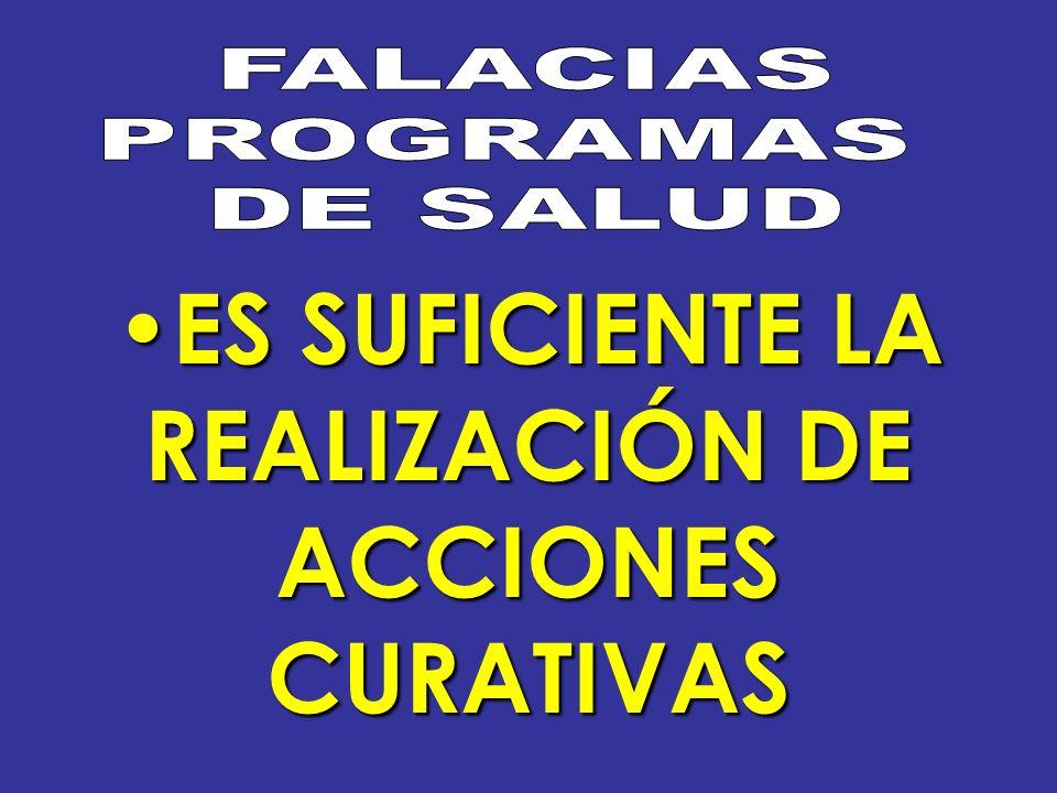 ES SUFICIENTE LA REALIZACIÓN DE ACCIONES CURATIVAS