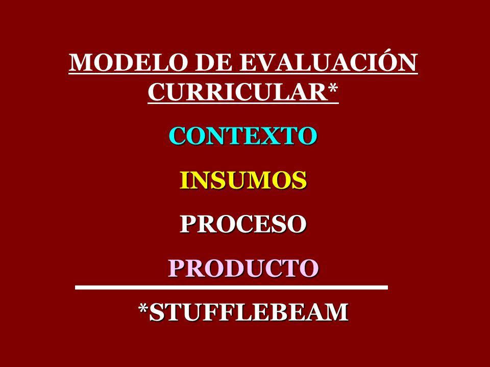 MODELO DE EVALUACIÓN CURRICULAR*