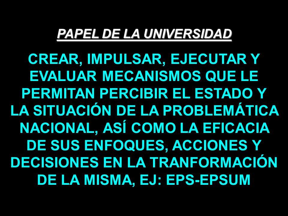 PAPEL DE LA UNIVERSIDAD