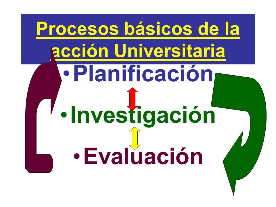Procesos básicos de la acción Universitaria