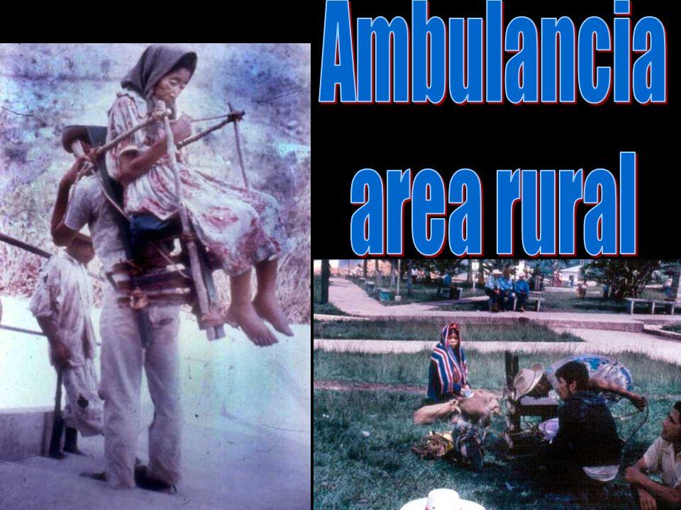 Ambulancia area rural