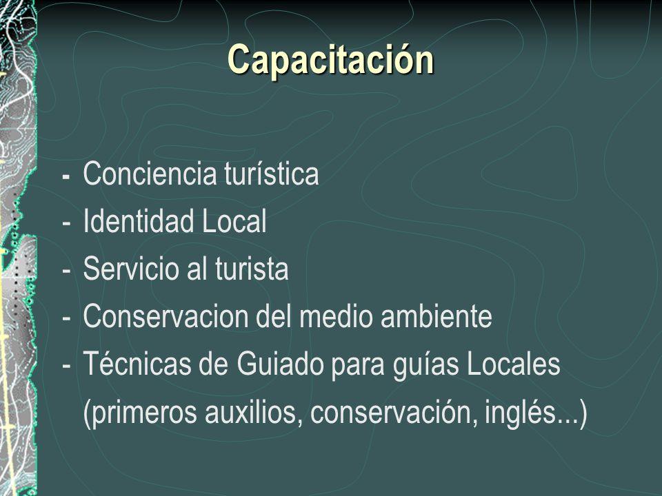 Capacitación - Identidad Local - Servicio al turista