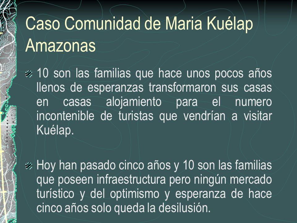 Caso Comunidad de Maria Kuélap Amazonas