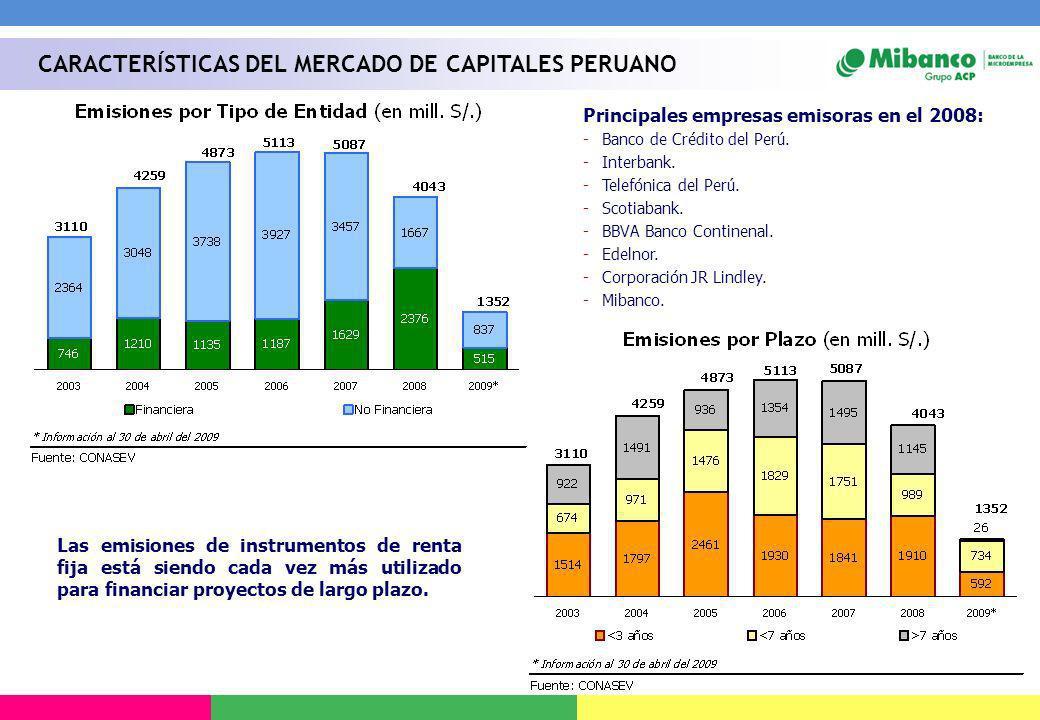 CARACTERÍSTICAS DEL MERCADO DE CAPITALES PERUANO