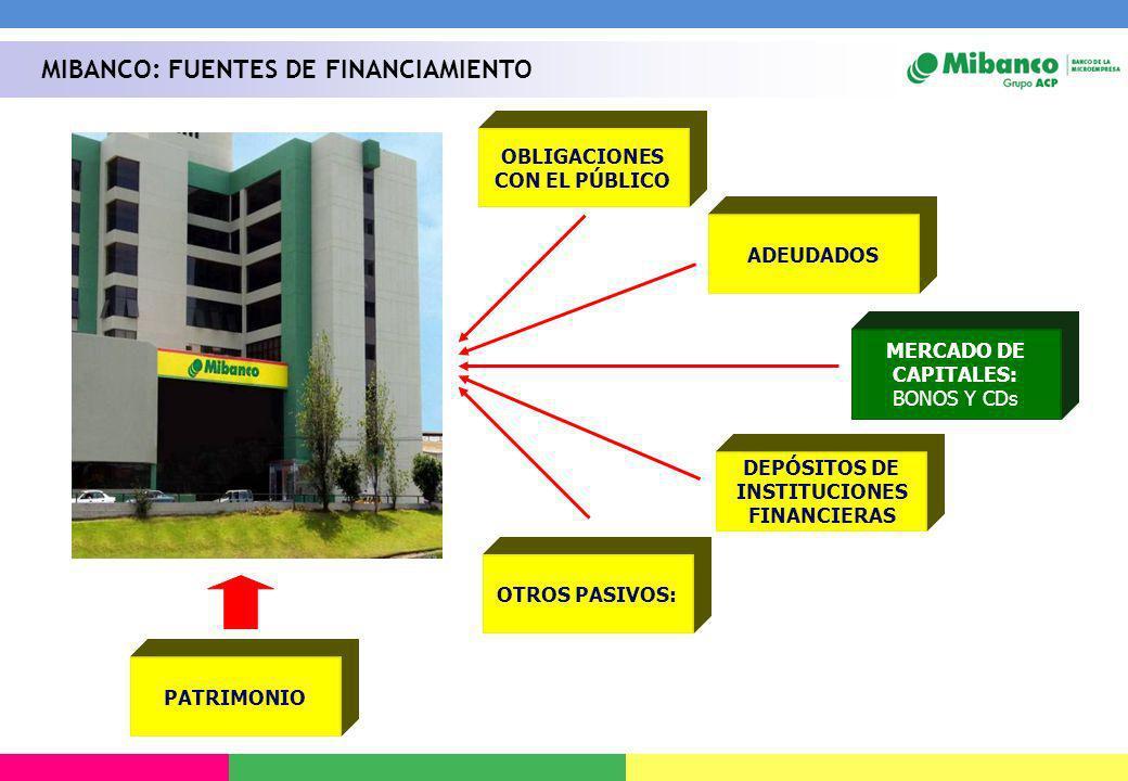 OBLIGACIONES CON EL PÚBLICO DEPÓSITOS DE INSTITUCIONES FINANCIERAS