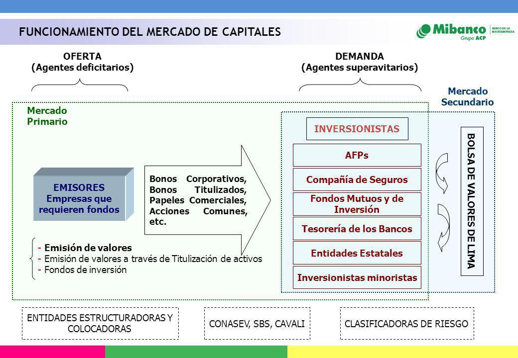 FUNCIONAMIENTO DEL MERCADO DE CAPITALES