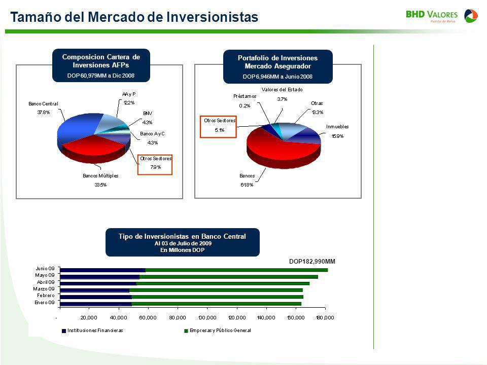 Tamaño del Mercado de Inversionistas