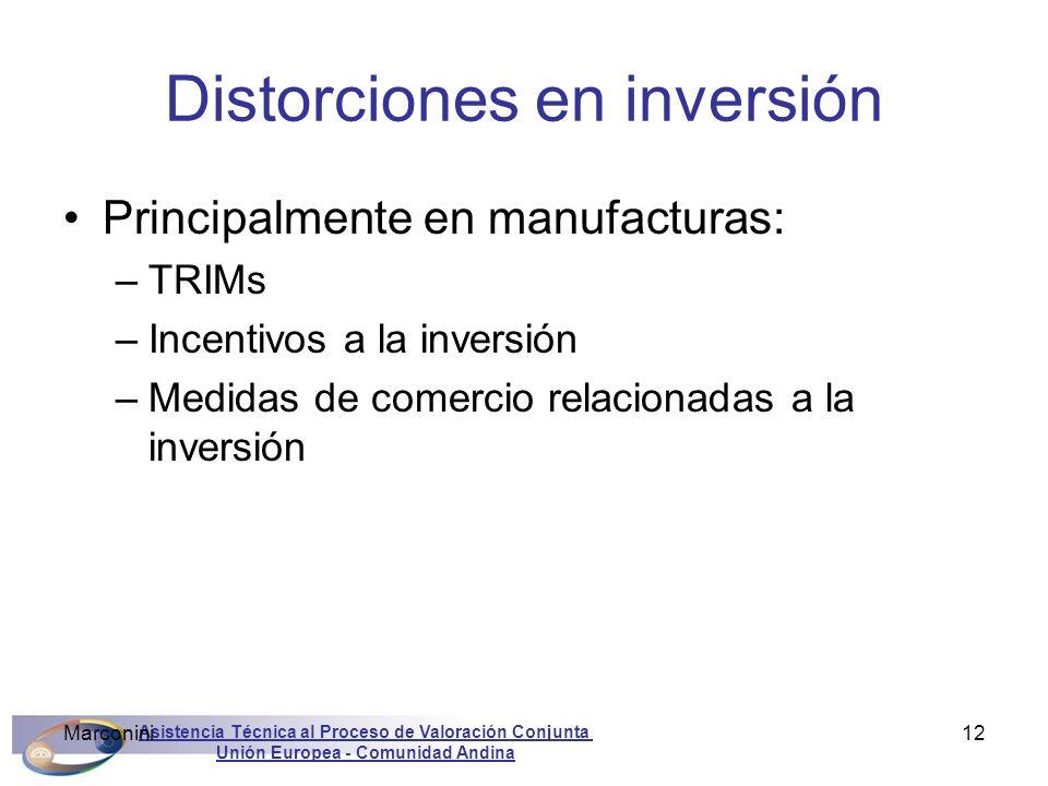 Distorciones en inversión