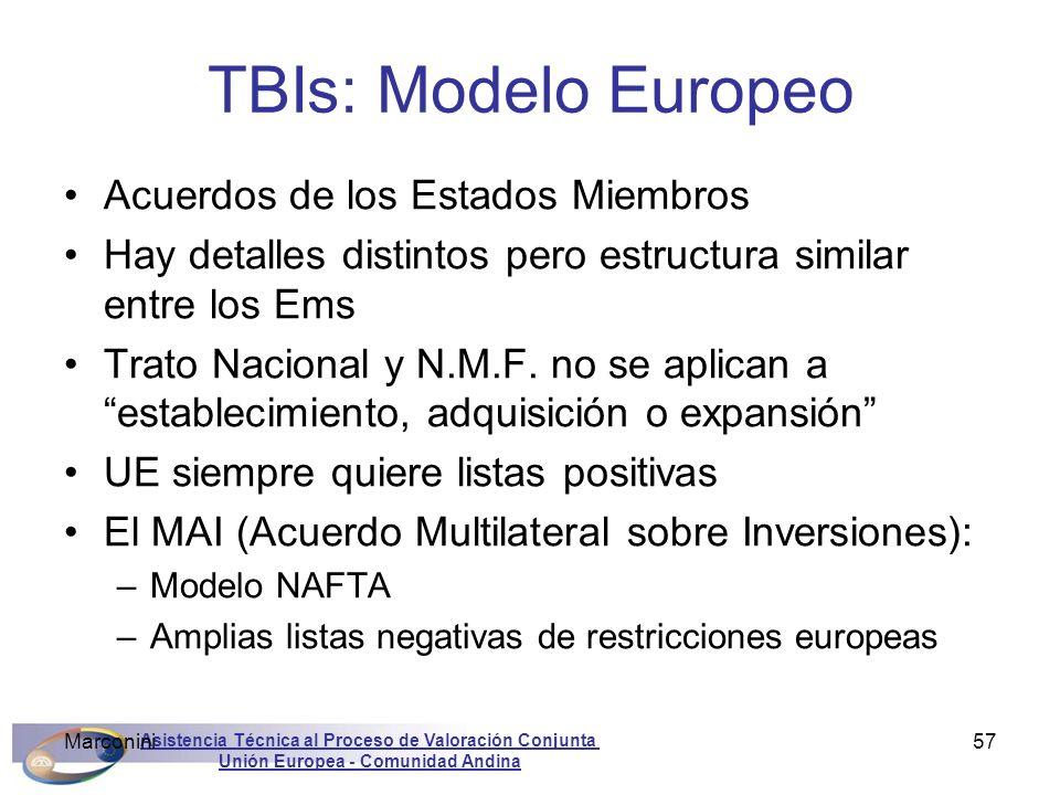 TBIs: Modelo Europeo Acuerdos de los Estados Miembros