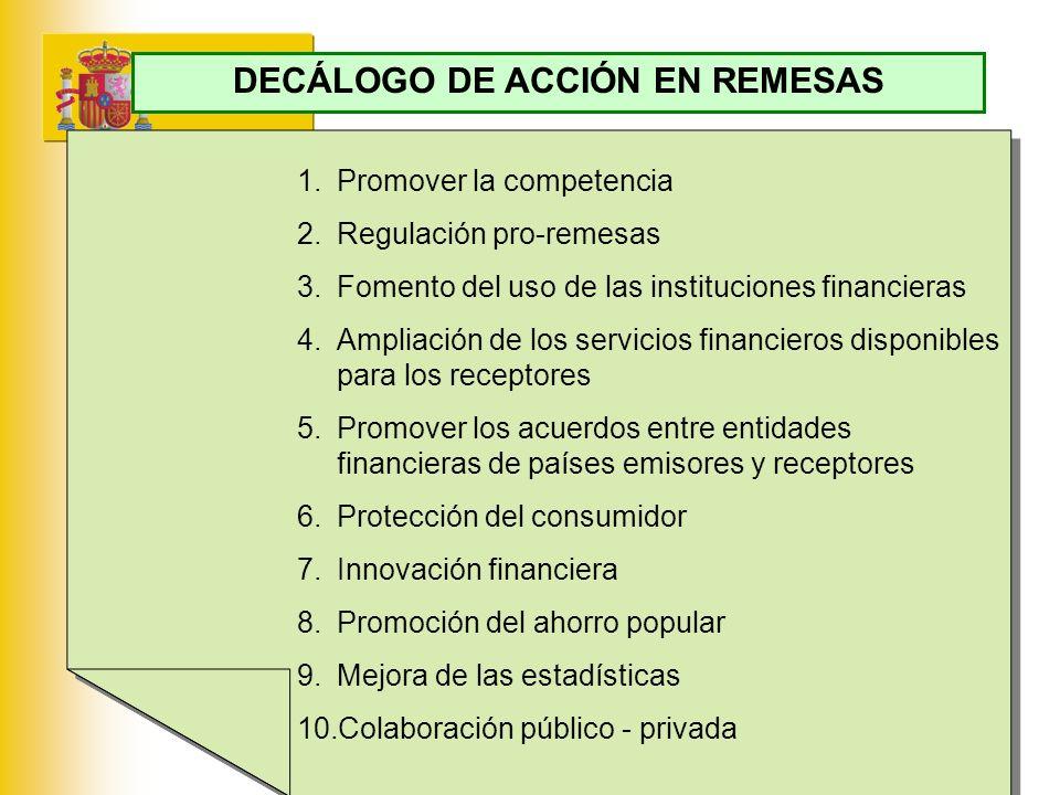 DECÁLOGO DE ACCIÓN EN REMESAS