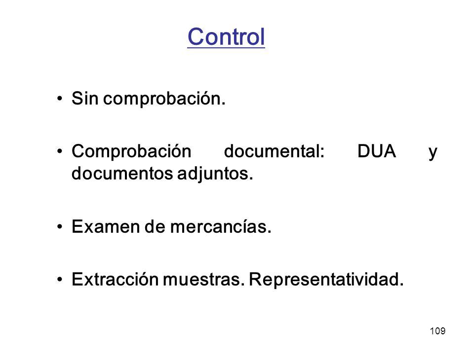Control Sin comprobación.