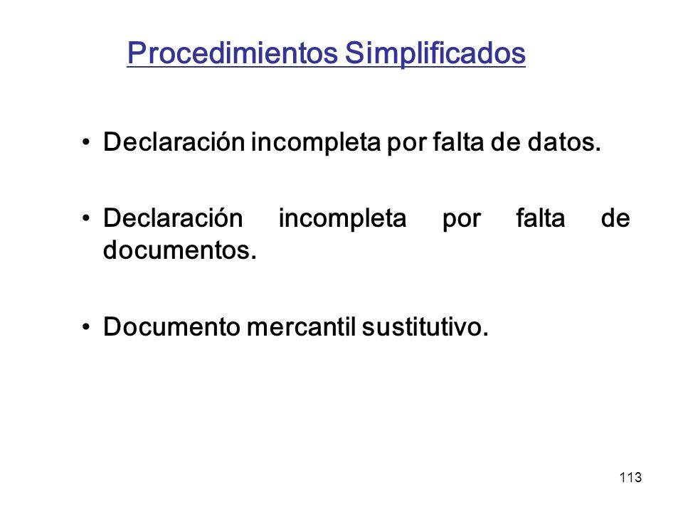 Procedimientos Simplificados