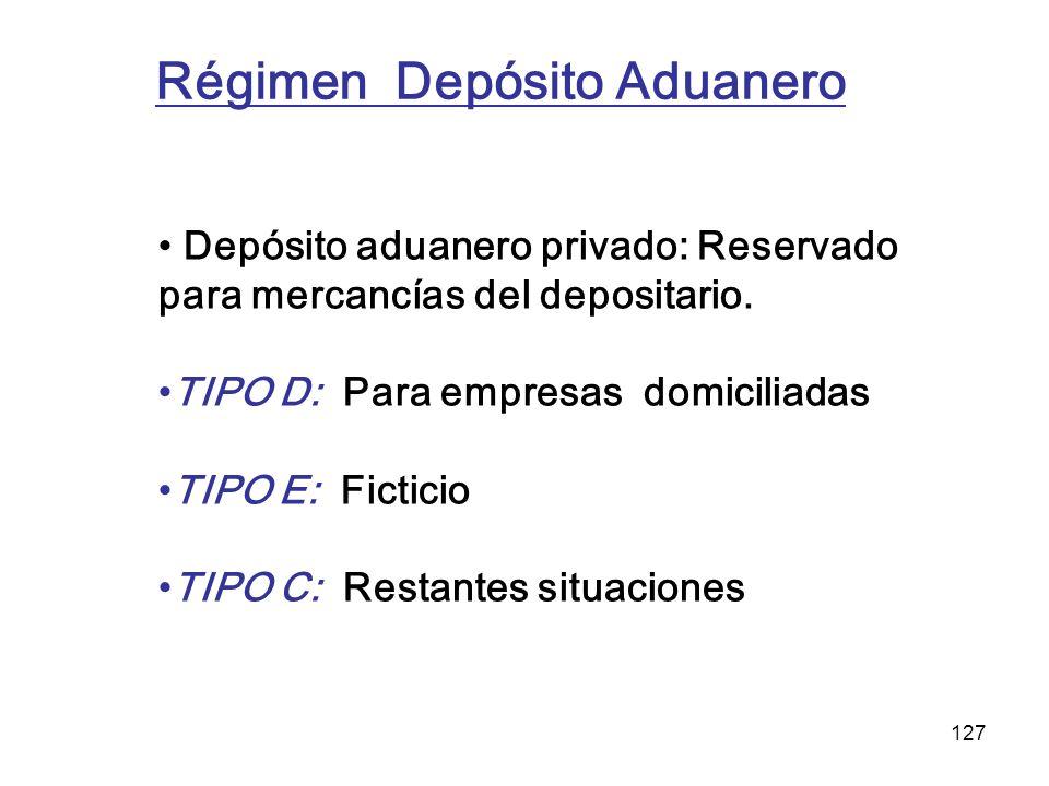 Régimen Depósito Aduanero